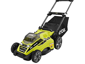 Ryobi 40V battery lawnmower and trimmer