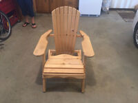 New Wooden Folding Lawn Chair