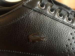 Lacoste Men's Misano 34 Fashion Black Leather Sneakers Shoes London Ontario image 5