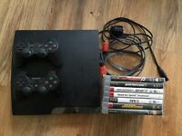 BARGAIN £100 - PS3 250gb with 7 games and 2 remotes. Boxed with HDMI lead.
