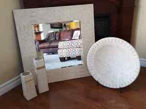 Modern Decorative Mirror, Candle Holders,Bowl
