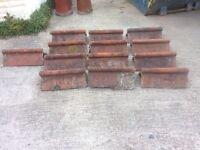 Victorian ridge roof tiles terracota
