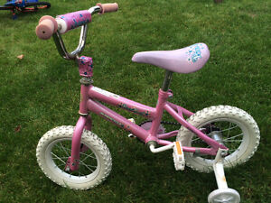 Pink bike for kids
