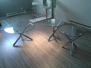 Table en verre 3x