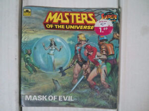 He-Man Masters of the Universe MOTU Super Adventure Book Mask of