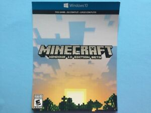 10$/ Minecraft pour Windows 10