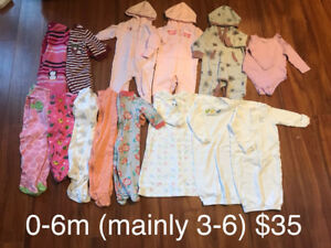 Girls 0-6 months WINTER Lot (mainly 3-6m)