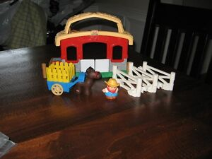 Fisher Price Little People Stable and accessories