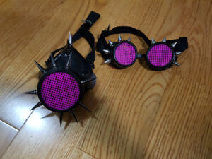 Punk Face Mask and Goggles