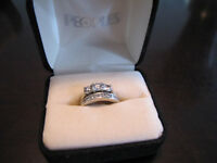 diamond ring set, total carats 1.25