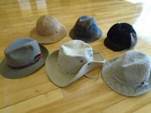 6 chapeau pour hommes +1 béret Kangol + foulard + cravates