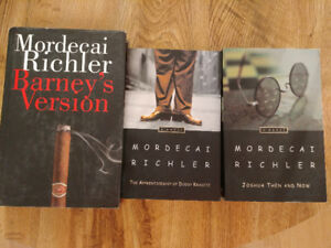 Mordecai Richler books $5 each or $12 for all