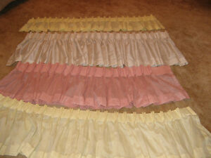 Window Toppers-beige, pink, yellow- all sizes - $5-10