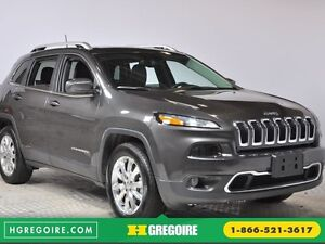 2016 Jeep Cherokee Limited 4WD NAV CUIR TOIT MAGS