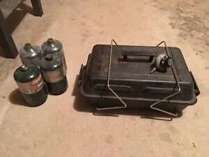 Mini camping barbecue with extra propane