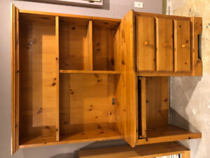 Solid Pine Desk Hutch
