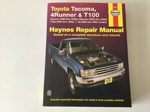 1993-2000 Toyota Tacoma, 4Runner & T100 Service Repair Manual