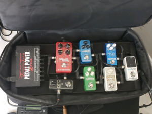 Guitar pedals, Power supply, Board and Case OBO