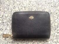 GENUINE MULBERRY Zip around TREE Black leather purse BRAND NEW