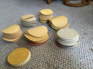 """5 """" and some 6"""" hook and loop sanding discs"""