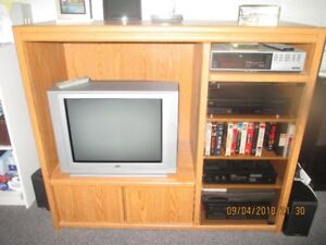 ENTERTAINMENT WALL UNIT WITH ELECTRONICS
