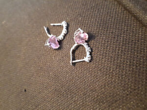Genuine pink sapphires and diamonds