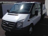 2012 61 FORD TRANSIT 350 C/C TIPPER TRUCK - PX/FINANCE
