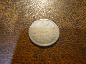 Vintage Canadian 1887 5 Cent Coin Very Good Condition!