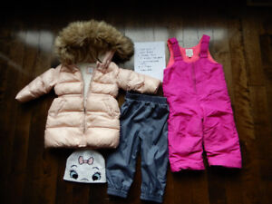Baby girl's size 2T Winter Clothing lot