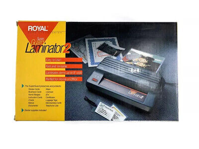 Vintage Royal Super Guard Laminator 2 Laminating Machine