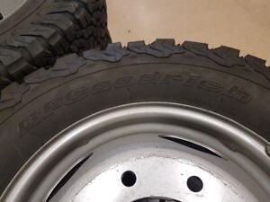 "BF GOODRICH 17"" tires with rims"