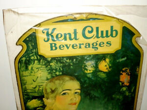 1940s-50s Weiller Philadelphia RARE advertising easel KENT CLUB Cambridge Kitchener Area image 2