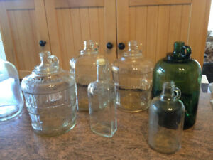 vintage jugs and bottles
