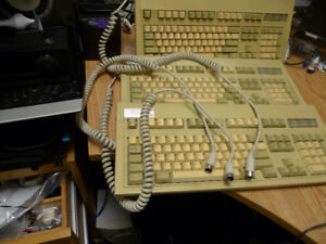 Vintage DIN and PS/2 Keytronic Keyboards Made in USA .