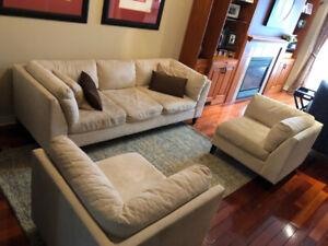 EQ3 Sofa and Corner Chairs