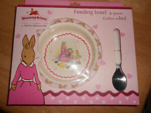 Royal Doulton Bunnykins Baby Feeding bowl & Spoon