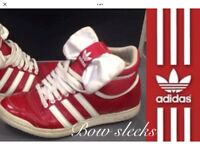 Vintage Adidas Bow sleeks -RARE 80's Originals -UK 7-