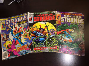 """""""Doctor Strange"""" comics (3) - 1976 to 1979 - only $5 total"""