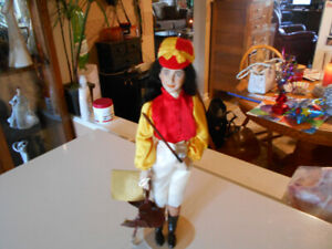 Franklin Heirloom porcelain hand painted doll Female Jockey