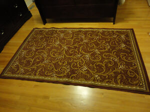 Red carpet area rug decorative accent Like New London Ontario image 2