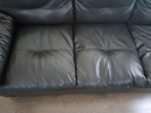Black leather sofa for sale..