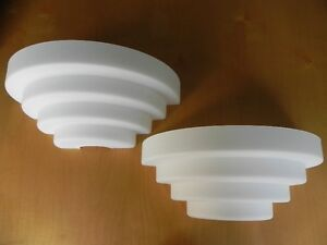 Two French Glass Wall Sconces