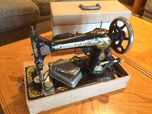 Antique Singer sewing machine (powered) $160 obo
