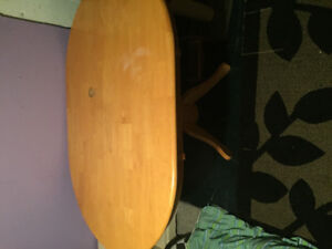 Water marked solid dining table