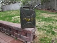 Military Jerry Gas Can.  $ 25.00