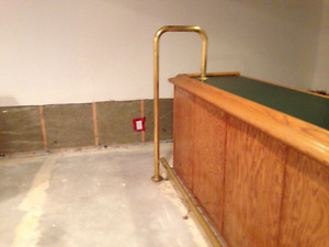 Brass Bar Rails - two foot rails and one divider bar