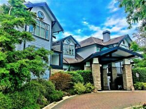 Waterfront condo with a view of Fraser River.