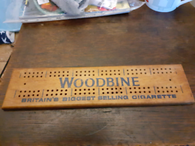 Vintage Woodbine Cribbage Board