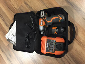 RIDGID 12V IMPACT DRIVER NEW CONDITION TWO BATTERIES