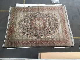 Pure silk Persian carpet 12x9'